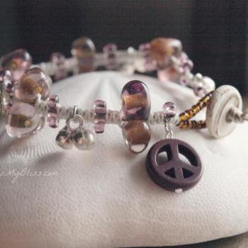 micro macrame bracelet with bells